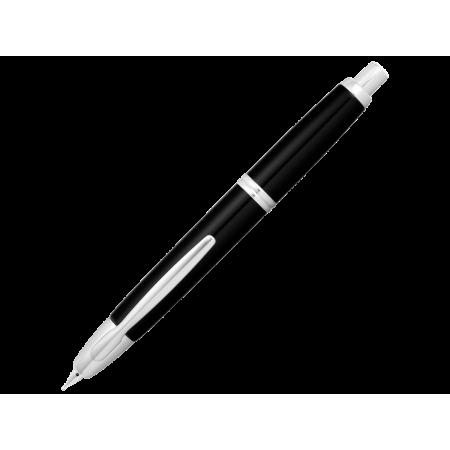 Capless noir attributs rhodiés - plume M