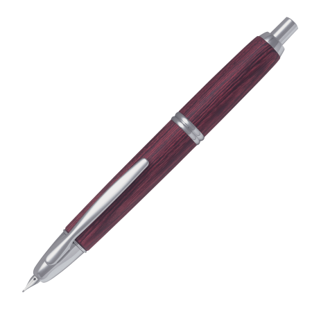 Stylo-plume Capless Wooden Rouge - Plume M